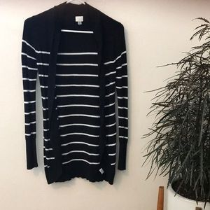 A New Day black striped cardigan
